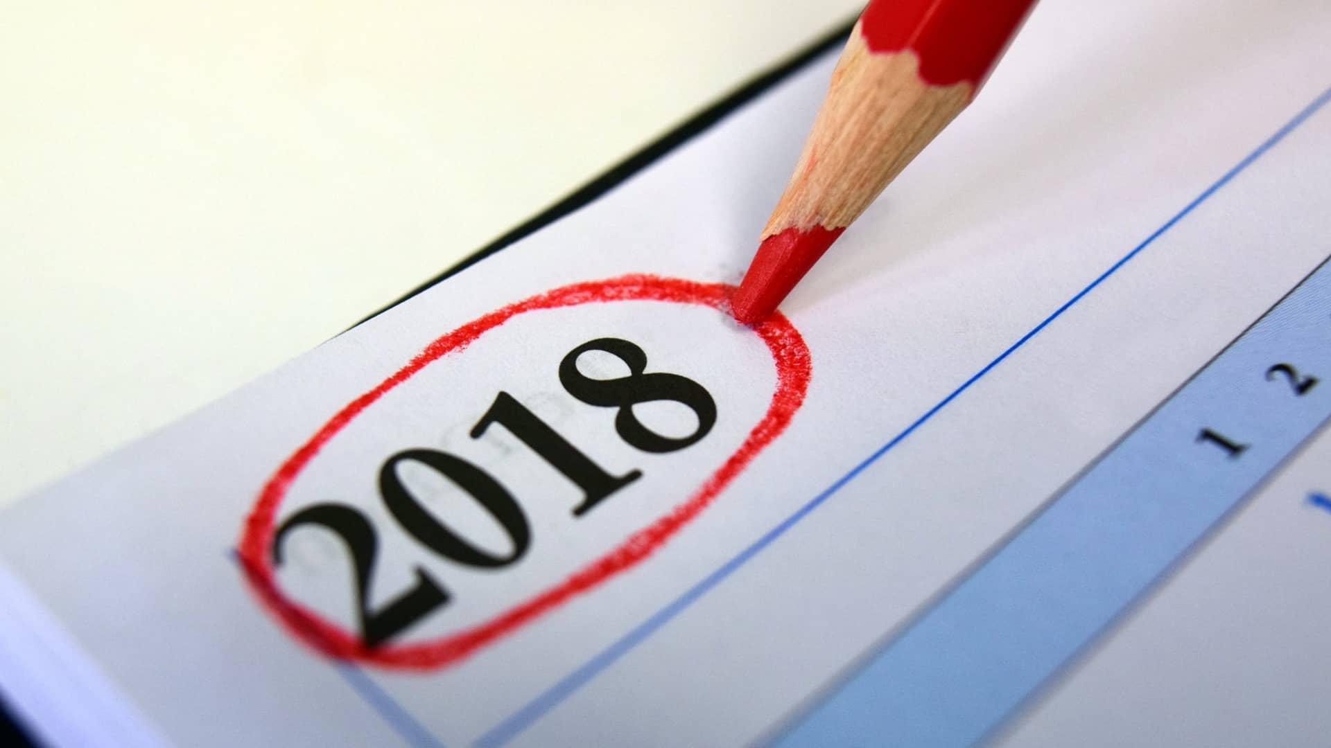 Kalender for 2018