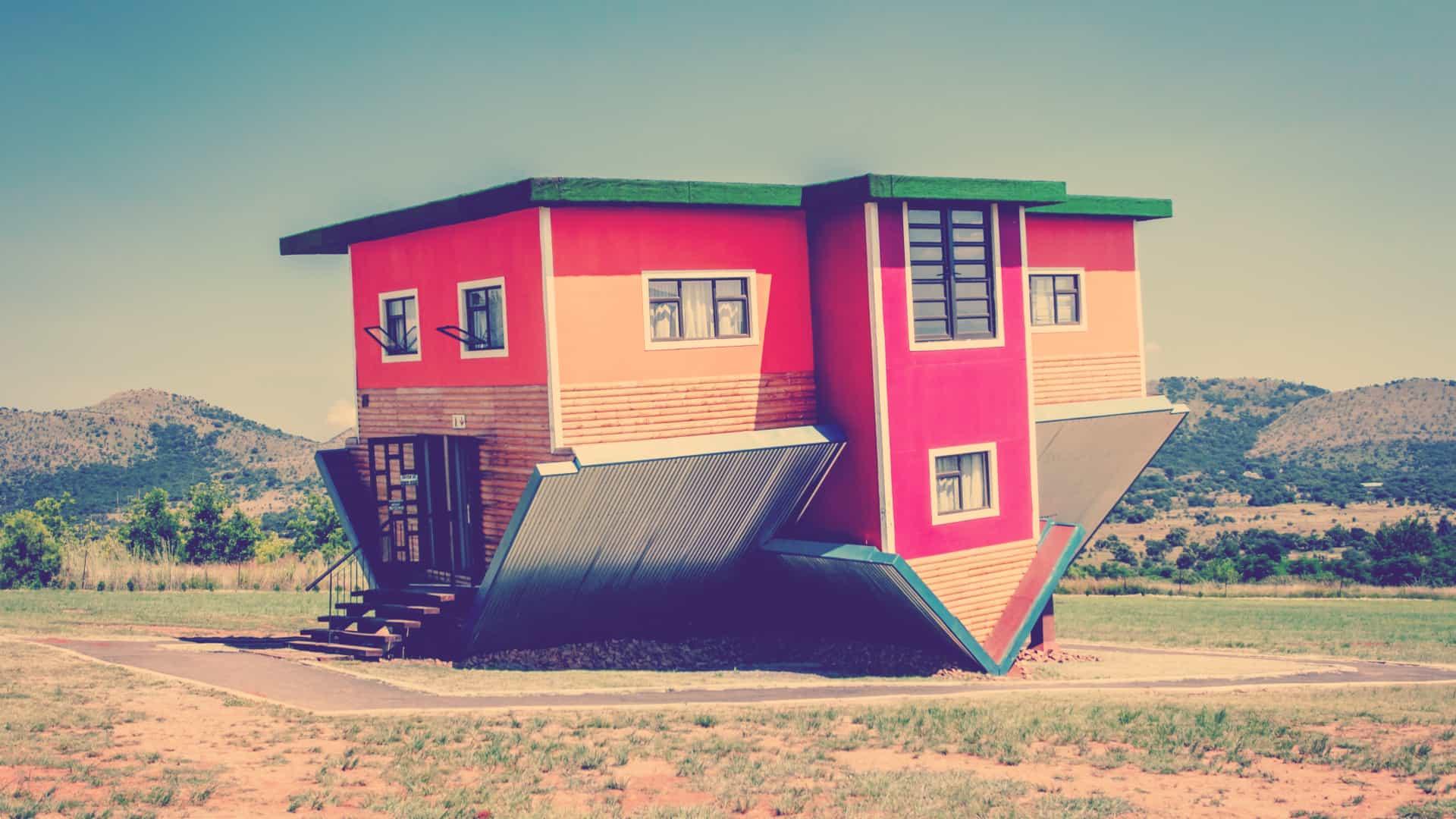 En hus på hovedet